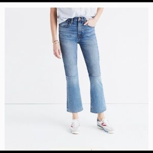 Madewell Retro crop boot jeans .Size 27
